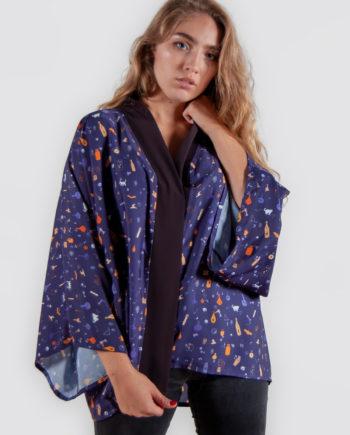 kimono estampado pociones abracadabra